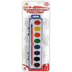Coffret de peinture 8 couleurs