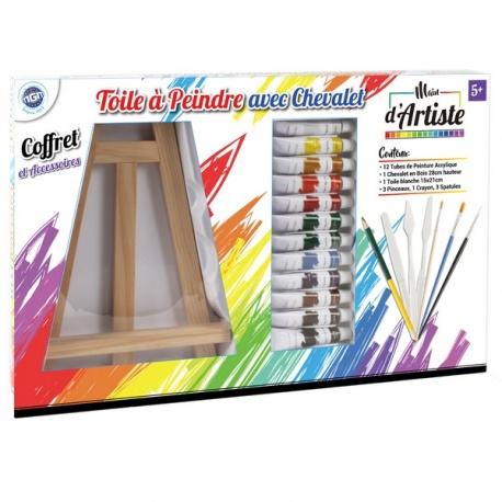 Set peinture acrylique, Main d'artiste