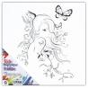 Toile magnétique à peindre Princesse aux papillons