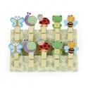 """10 mini pinces à linge """"insectes"""" en bois"""