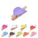20 mini pinces à linge coeur couleur, au choix