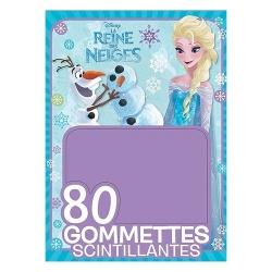 """80 gommettes scintillantes """"La Reine des neiges"""""""