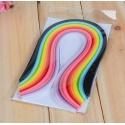 Bandes de papier quilling multicolores, 3 à 10 mm