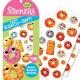 Stickers Donuts, 34 autocollants au bon goût sucré et acidulé (STK105)