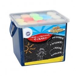 Boîte de 15 craies de couleur, Main d'artiste