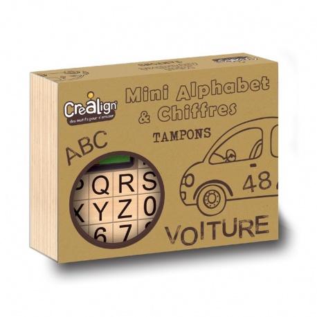 Coffret tampons mini alphabet et chiffres, Crealign