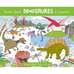 Poster géant Dinosaures à colorier, 1 2 3 Soleil