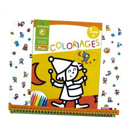 """Cahier de coloriages 3+ """"Personnages"""" Sycomore"""