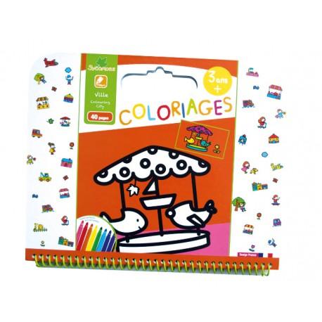 """Cahier de coloriages 3+ """"Ville"""" Sycomore"""
