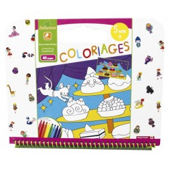 "Cahier de coloriages 5+ ""Gourmandises"" Sycomore"