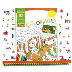 "Cahier de coloriages 5+ ""Contes"" Sycomore"