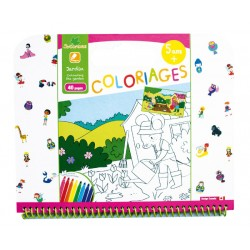 "Cahier de coloriages 5+ ""Jardin"" Sycomore"
