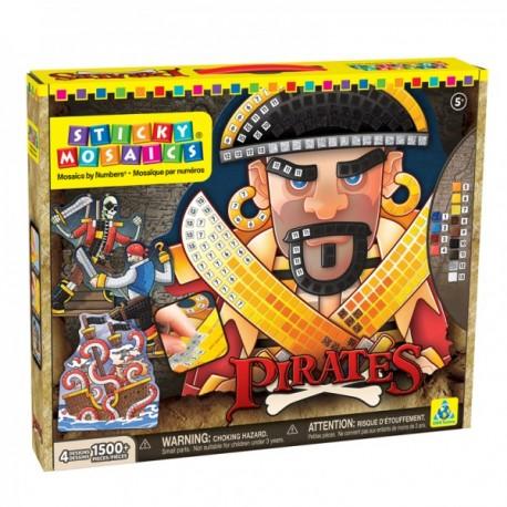 """Mosaïques aux numéros """"Pirates"""", Sticky Mosaics"""