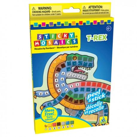 """Mosaïques aux numéros """"T-Rex"""", Sticky Mosaics"""
