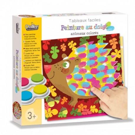 """Peinture au doigt """"Animaux colorés"""", Crealign"""