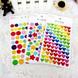 Gommettes formes multicolores, différents modèles