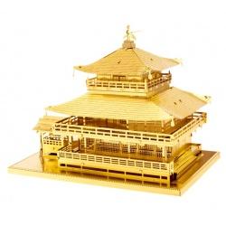 Kinkaku-Ji doré, maquette 3D en métal