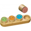 "Tampons notation ""smiley"" en bois, Crealign"