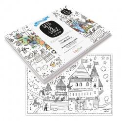 Set de table papier à colorier, différents modèles, Marielle Bazard