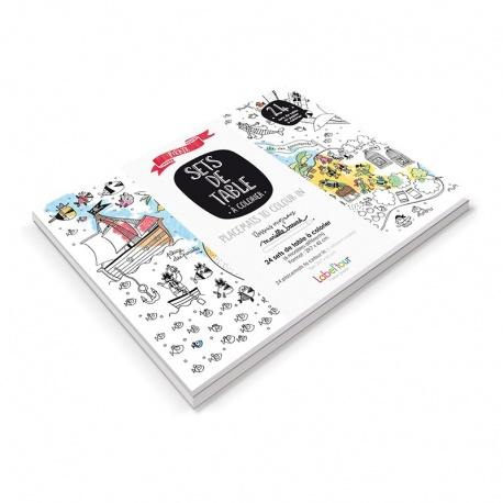 Set de table papier à colorier, Pirate (BAZCST01)