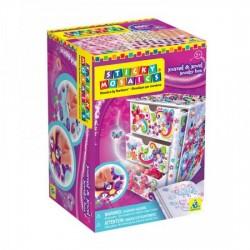 Boîte à bijoux + journal intime, Sticky Mosaics