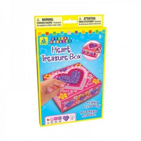 """Boîte à bijoux pliable """"Coeur"""", Sticky Mosaics"""