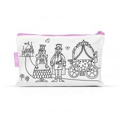 Trousse à colorier + 4 feutres - Princesse (BAZTR01)
