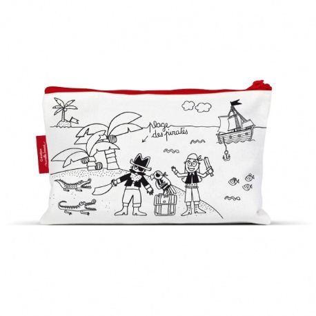 Trousse à colorier + 4 feutres - Pirate (BAZTR06)