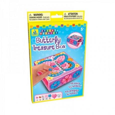 """Boîte à bijoux pliable """"Papillon"""", Sticky Mosaics"""